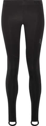 Nike Pro Mesh-paneled Dri-fit Stretch Leggings - Black