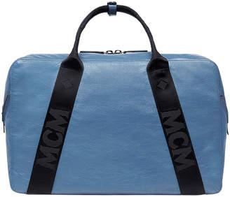 MCM Men's Stadt Large Lambskin Leather Duffel Tote Bag