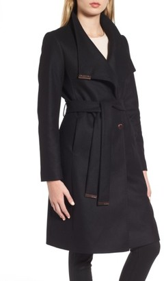 Women's Ted Baker London Wool Blend Long Wrap Coat $575 thestylecure.com