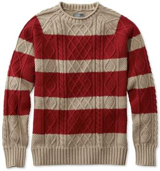 L.L. Bean L.L.Bean Signature Fisherman Sweater, Rollneck Stripe