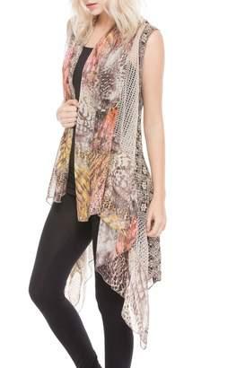 Adore Coral Chiffon Vest