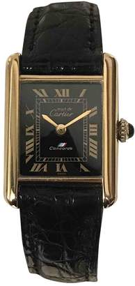 Cartier Vintage Tank Solo Gold Gold plated Watches