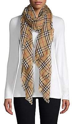 Burberry Women's Cashmere Check Scarf