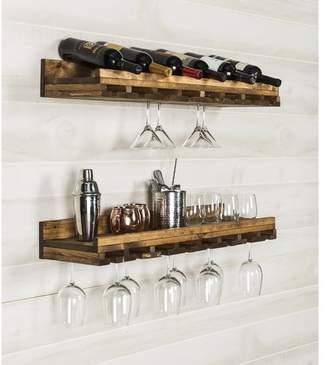 Bernardo Trent Austin Design Rustic Luxe Tiered Wall Mounted Wine Glass Rack