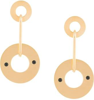 Marni circular drop earrings