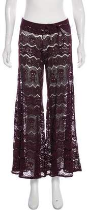 Letarte Embroidered Mid-Rise Pants
