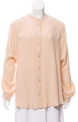 Equipment Silk Button-Up Blouse