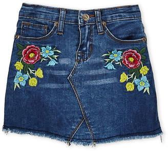 Hudson Girls 4-6x) Floral Embroidered Denim Skirt