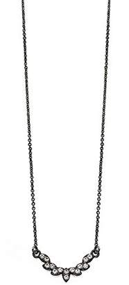 Fiorelli Fashion Delicate Gunmetal and Crystal Necklace of Length 47cm