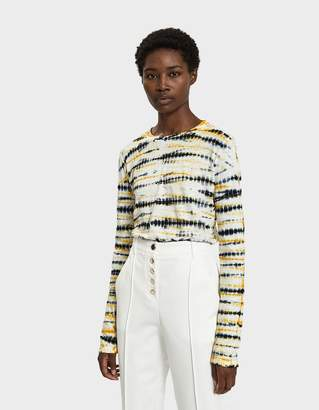 Proenza Schouler Tie Dye Long Sleeve T-shirt in Yellow/Black