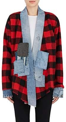 "Greg Lauren Women's ""Vintage"" Checked Wool-Blend Kimono"