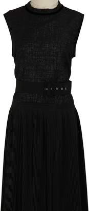 Moncler Belted sleeveless dress