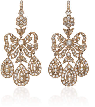 Nam Cho White Diamond Girandole Earrings