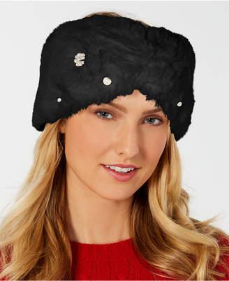 INC International Concepts I.n.c. Embellished Faux-Fur Headband