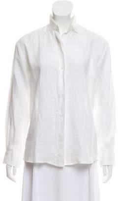 100% Capri Long Sleeve Button-Up Top