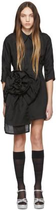 Miu Miu Black Pointy Collar Dress