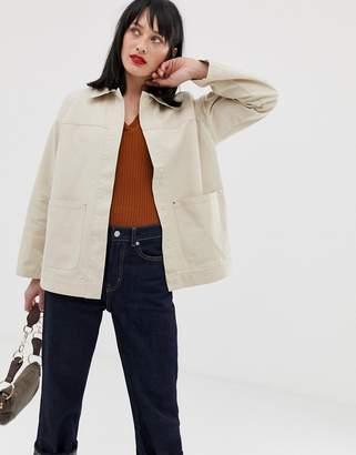 Asos Design DESIGN utility washed cotton jacket