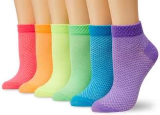 K. Bell Socks Women's Solid Pique 6-Pack