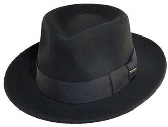 Men's Scala Classico Wool Felt Fedora - Black $46 thestylecure.com