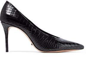 Schutz Salma Croc-Effect Leather Pumps