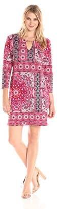 Tiana B Women's Border Print Shift Dress