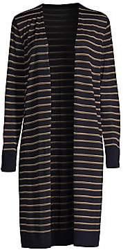 Lafayette 148 New York Women's Long Striped Cardigan