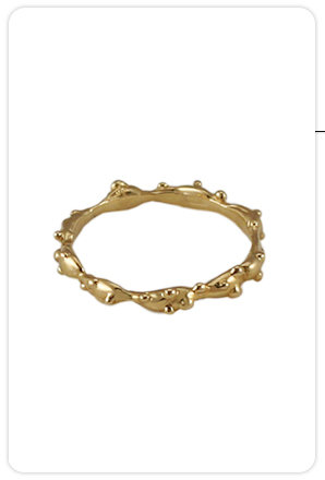 Tina Tang Skinny Gold Fantasy Forest Ring