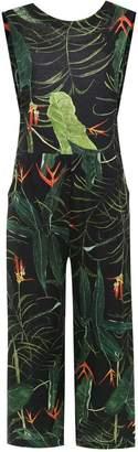 OSKLEN wide leg cropped jumpsuit