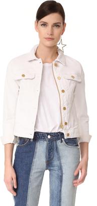 Zadig & Voltaire Kioky Blanc Denim Jacket $248 thestylecure.com