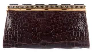 Judith Leiber Embossed Leather Clutch