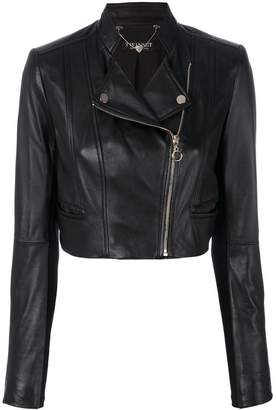 Twin-Set cropped biker jacket