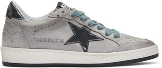 Golden Goose Grey Suede Ball Star Sneakers $390 thestylecure.com
