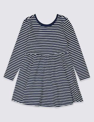 Marks and Spencer Pure Cotton Striped Dress (3 Months - 7 Years)