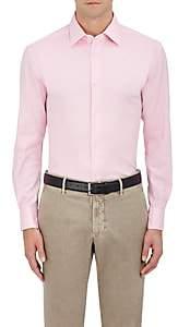 Piattelli MEN'S COTTON PIQUÉ DRESS SHIRT-PINK SIZE L