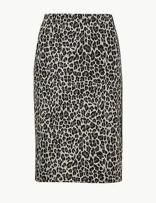 Marks and Spencer Animal Print Pencil Skirt