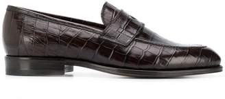 Tagliatore crocodile print loafers