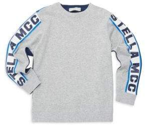 Stella McCartney Little Boy's & Boy's Logo Sleeve Sport Sweatshirt