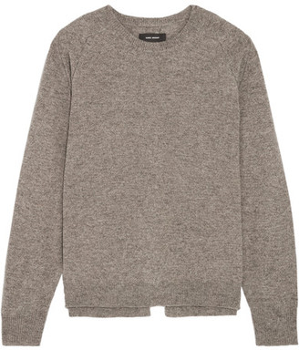 Isabel Marant - Clash Split-back Wool, Yak And Cotton-blend Sweater - Gray $640 thestylecure.com