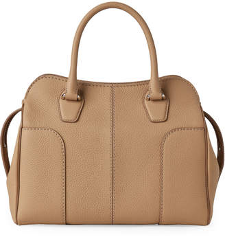 Tod's Beige Hammered Leather Tote