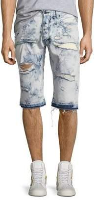 PRPS Joy Ride Bleached Shorts, Light Blue