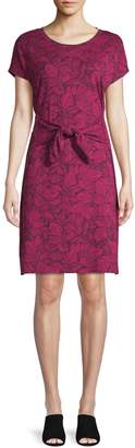 Lord & Taylor Printed A-Line Dress