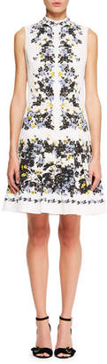 Erdem Windsor Sleeveless Floral-Print Wallpaper Faille A-Line Day Dress
