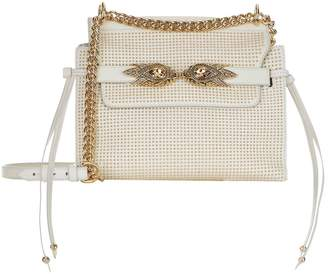Roberto Cavalli Stud Embellished Leather Shoulder Bag
