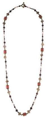 Stephen Dweck Multistone Bead Long Necklace