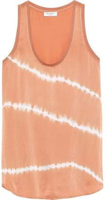 Equipment Tie-Dyed Silk-Satin Tank