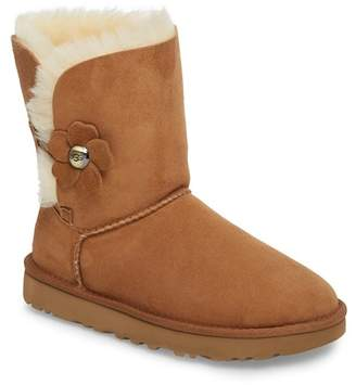 UGG Mini Bailey Poppy Suede Genuine Shearling Boot