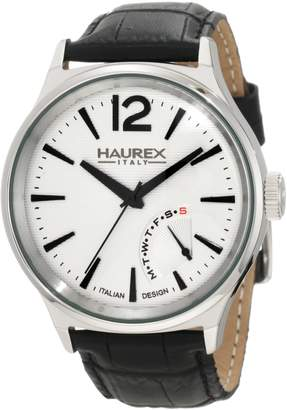 Haurex Italy Men's 6A341US1 Grand Class Day Indication Leather Watch