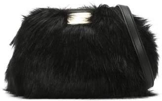 at Daniel Footwear · Emporio Armani Furry Sling Black Faux Fur Cross-Body  Bag a58440c6e4