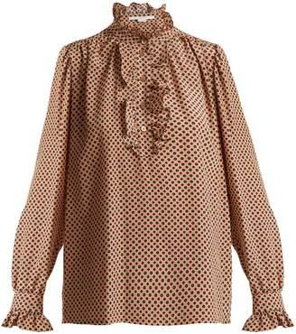 Stella McCartney Meredith ruffle-trimmed silk blouse