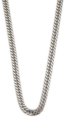 Men's Sterling Silver Double Curb Chain Necklace